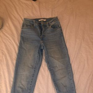 Levi high rise skinny jeans